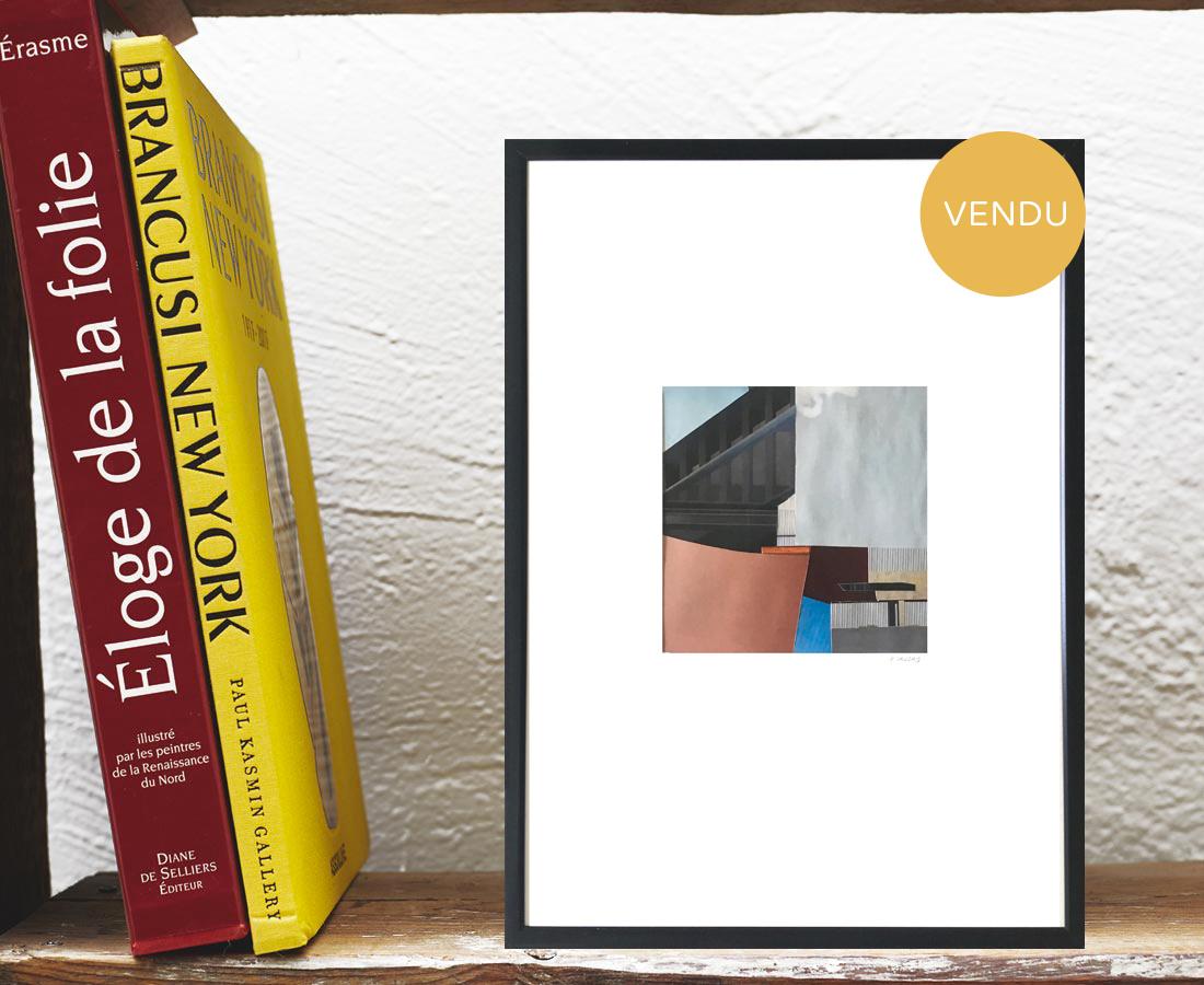 Pascaline Sauzay - Collage - Variation imaginaire 13