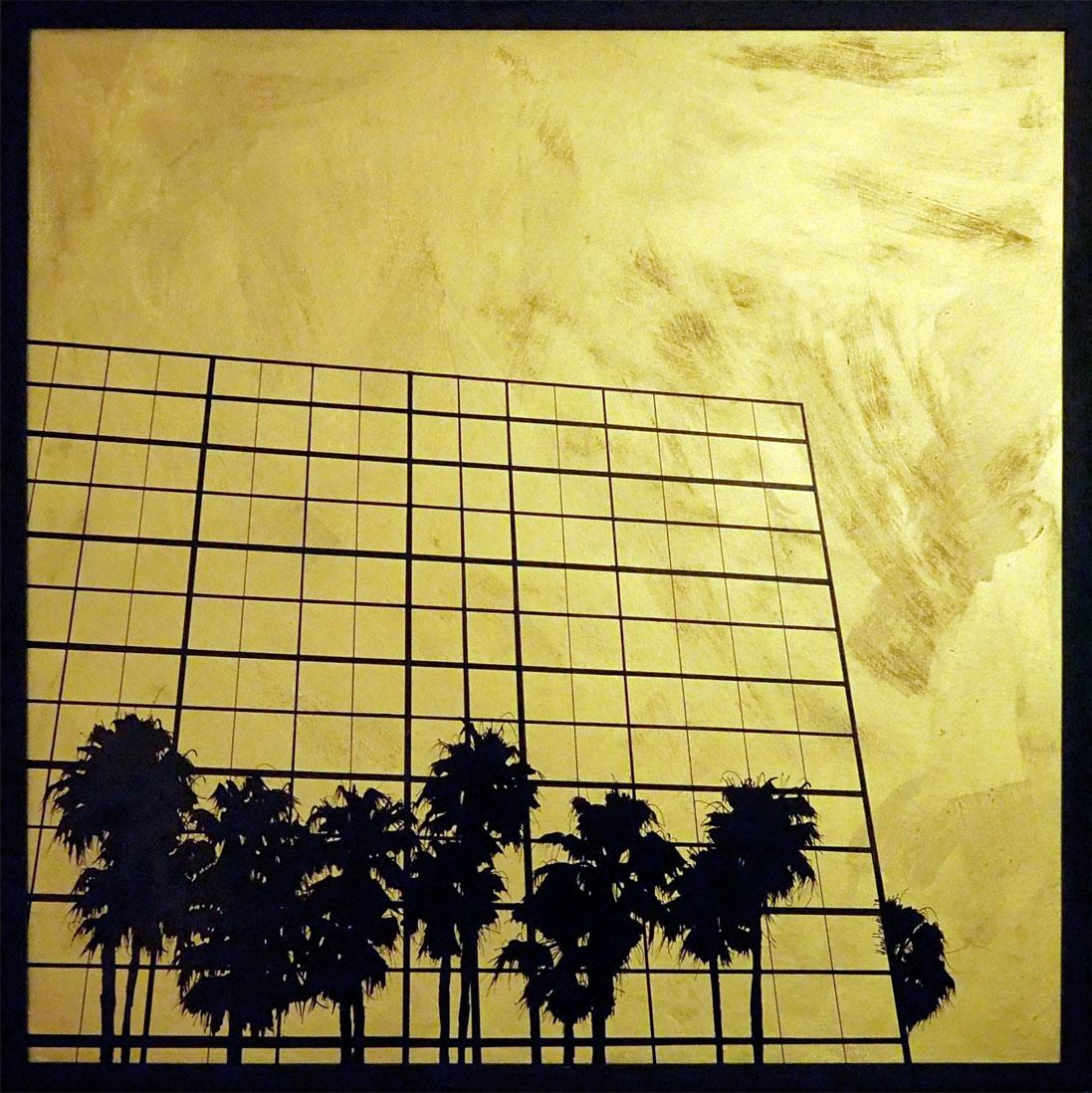 Hubert Jouzeau . Tableau - Grands Palmtrees