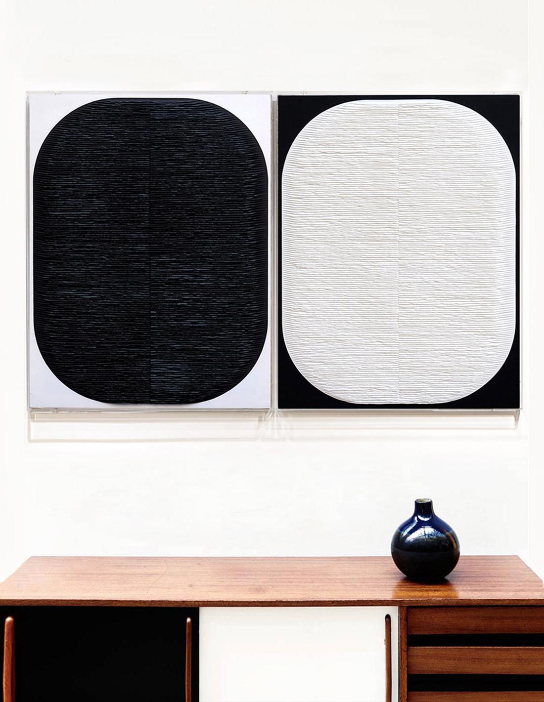 Fernando Daza - Deux formes inversées (noire et blanche)