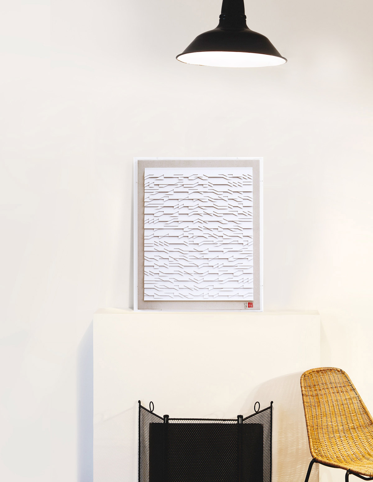 Fernando Daza - Oeuvre sur papier - Monochrome Basik 4