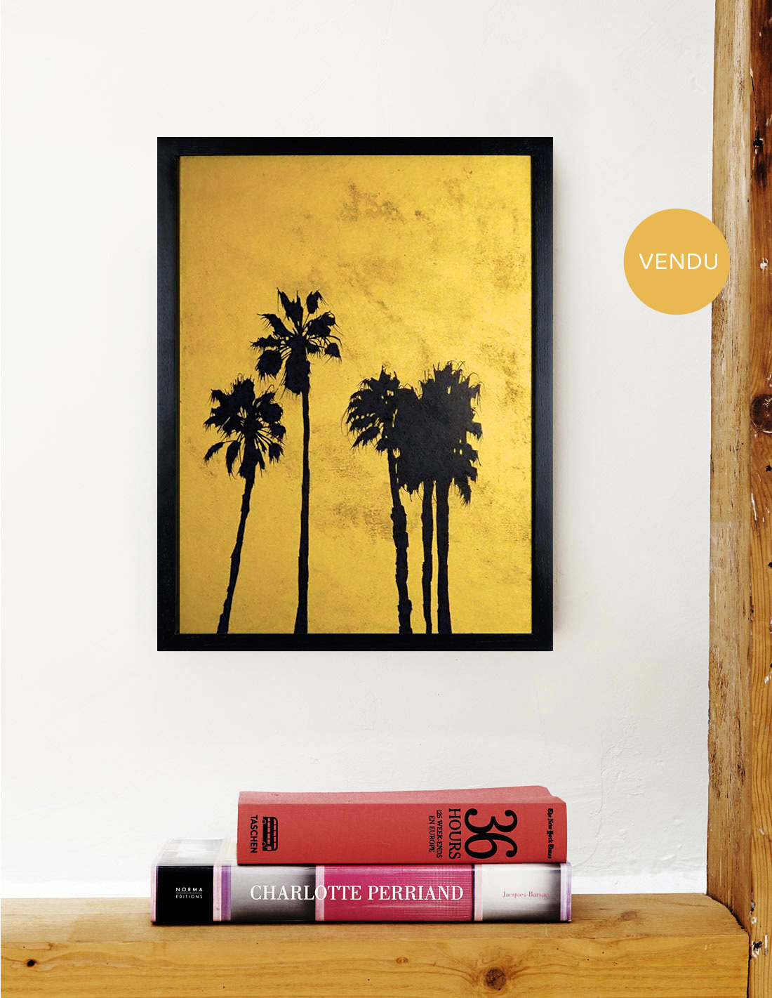 Hubert Jouzeau - Tableau - Moyens palmtrees Vendu