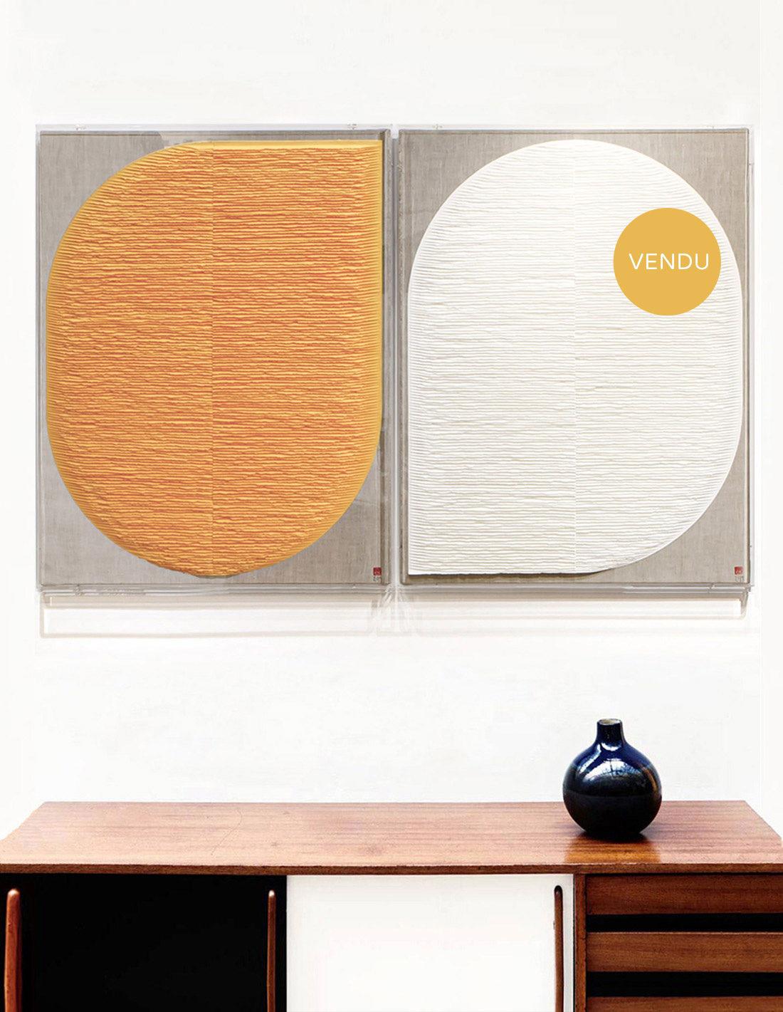 Fernando Daza - Formes jaune et blanche