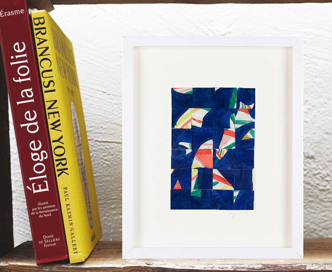Bernard Gortais - Oeuvre sur papier - Composition 067
