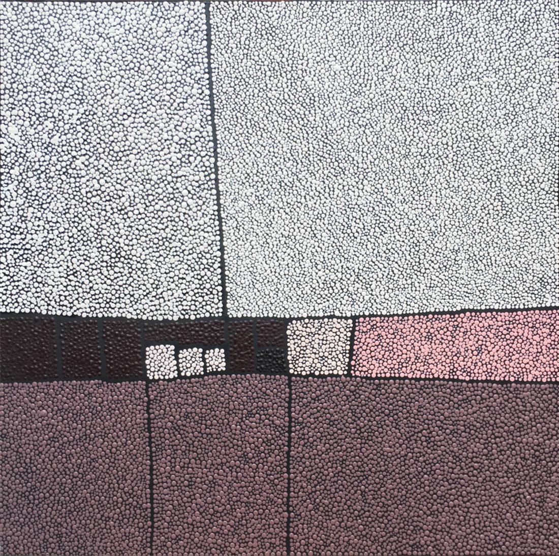 Marjolaine de La Chapelle - Sans titre rose et gris
