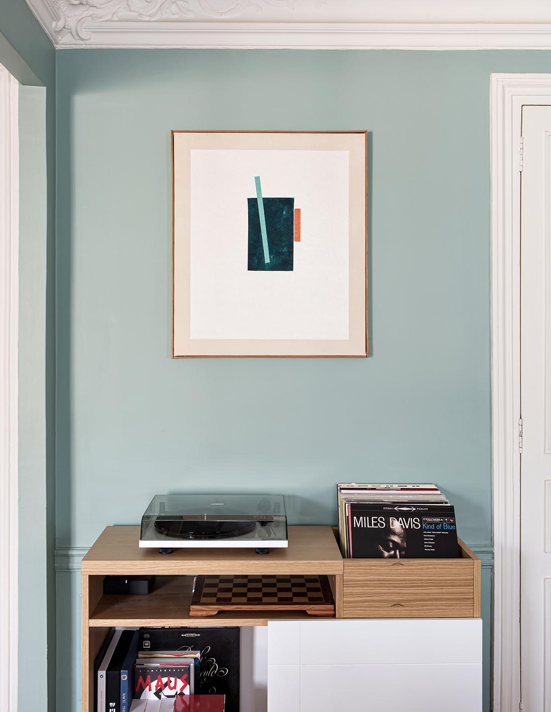 Carlos Stoffel, Acrylique et collage de tissu sur toile