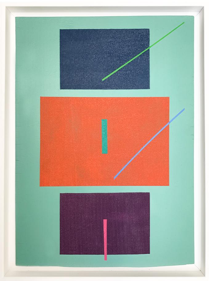 Carlos Stoffel - Sans Titre Turquoise Diagonale Verte- Packshot