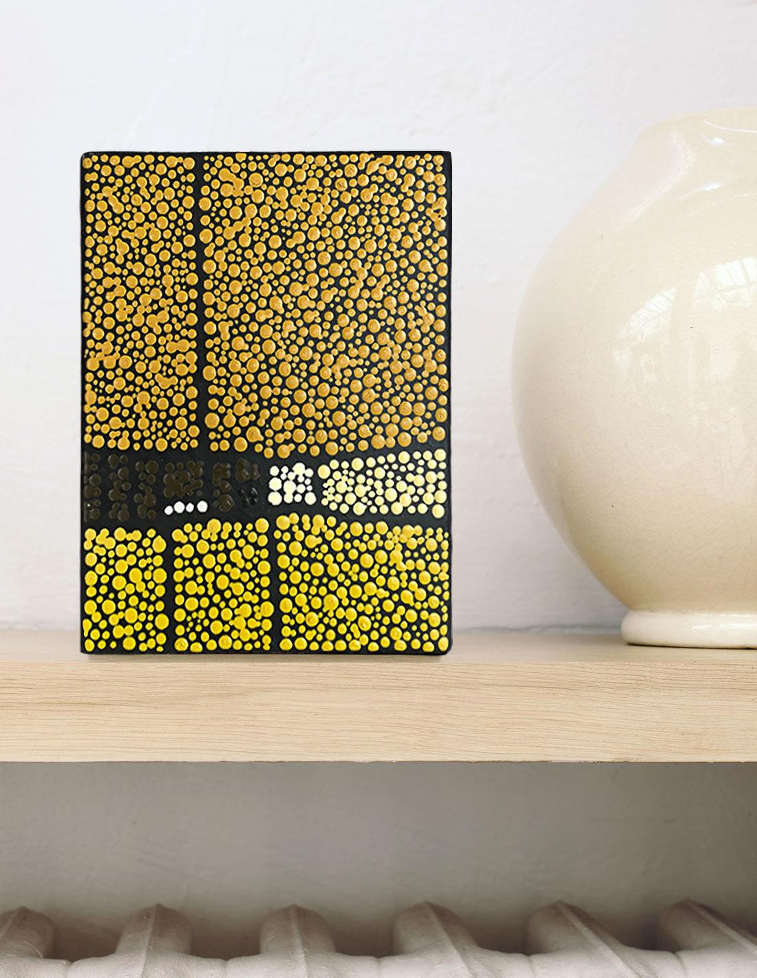 Marjolaine de La Chapelle - Tableau mini format jaune