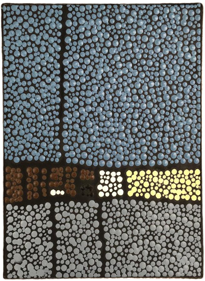 Marjolaine de La Chapelle - Tableau mini format bleu