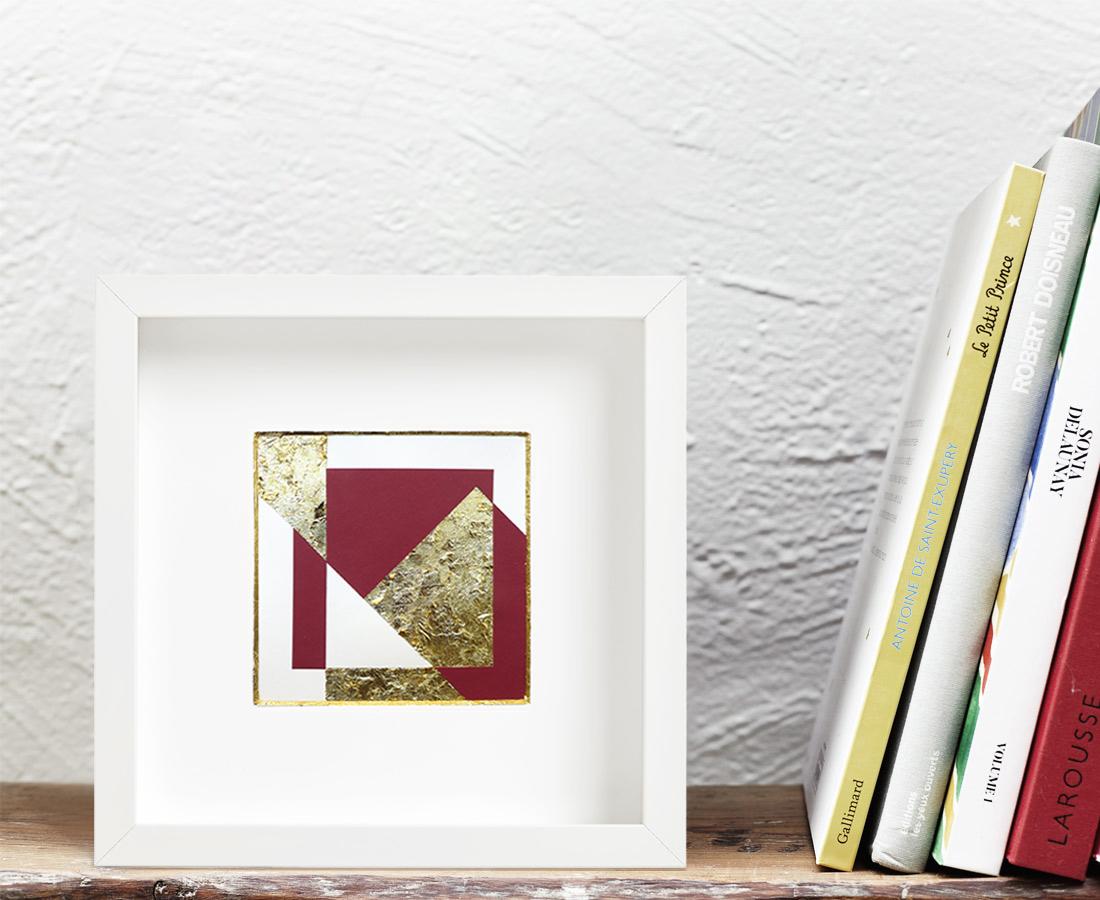 Marion Pillet - Oeuvre sur papier -Feuille d'or Insitu