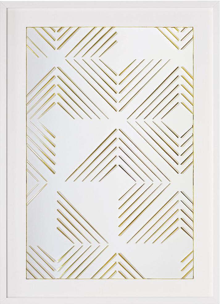 Marion Pillet - Oeuvre sur papier -Blanc et Or II Packshot