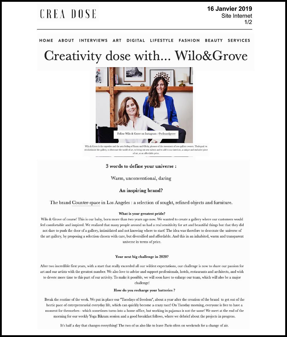 Créadose - Article [presse]