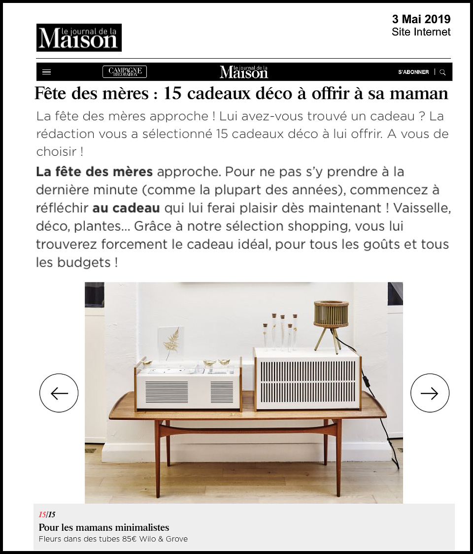 Journal de la maison - Article [presse]