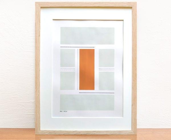 Marie Amédro - Oeuvre sur papier - Intersection sur papier n°5