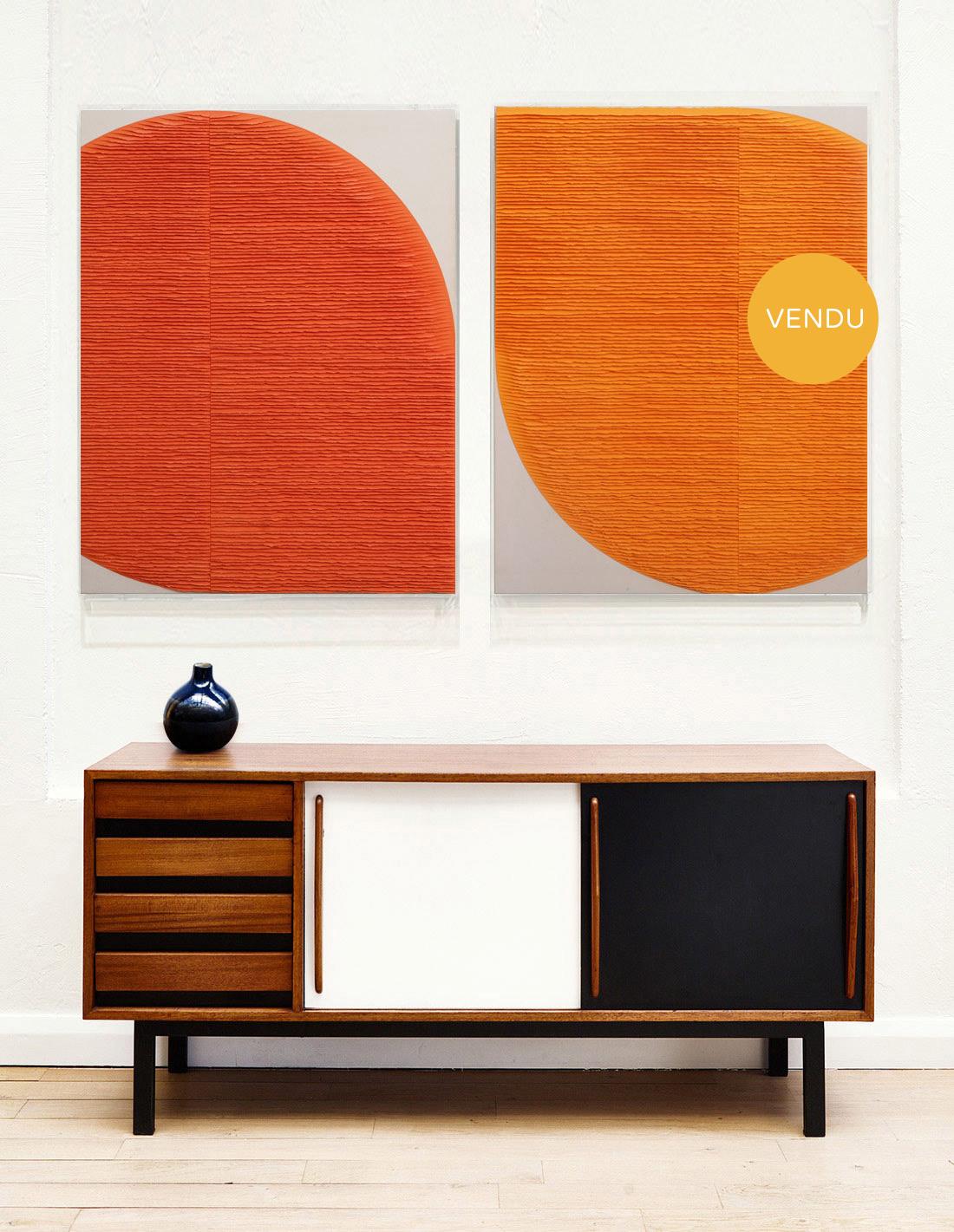Deux-formes-oranges-insitu-vendu