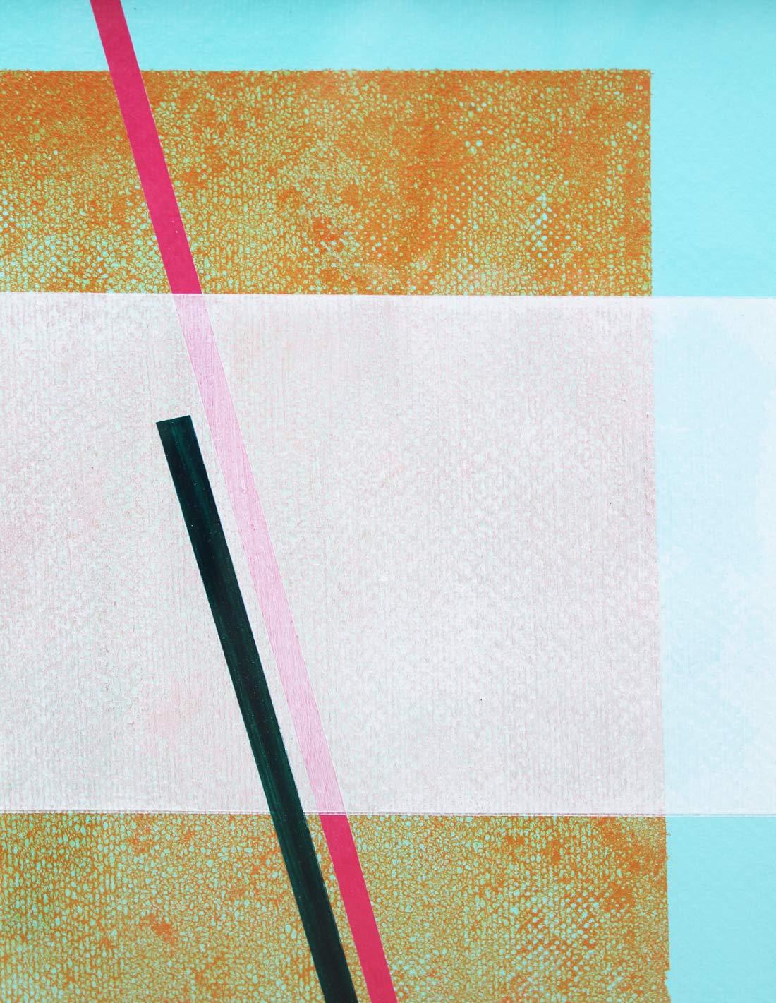 Sans Titre (fond turquoise, rectangle bleu et blanc, barre rose)-close-up